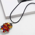 Hand made resin stone multi color pendant