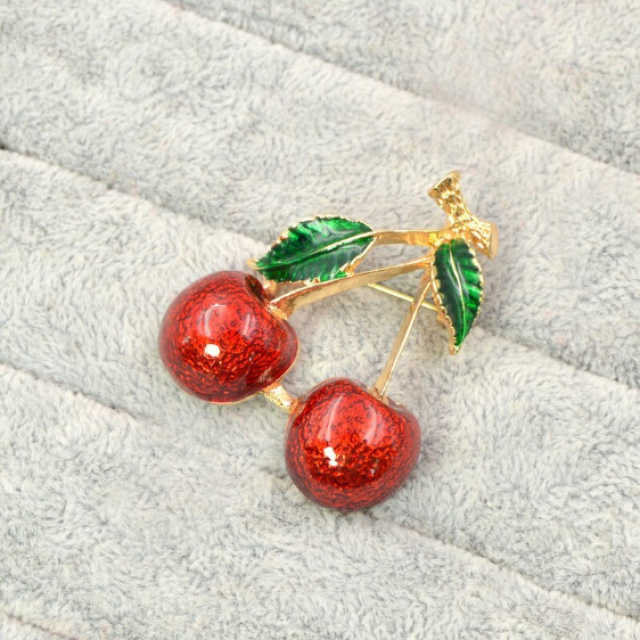 red color cherry-gold
